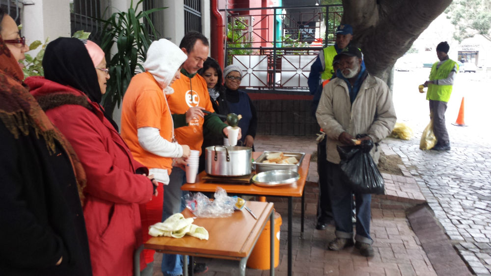 EC Cape Town giving back to the less fortunate on Mandela Day.