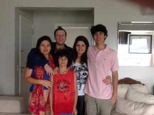 Pamela with her family in Brazil