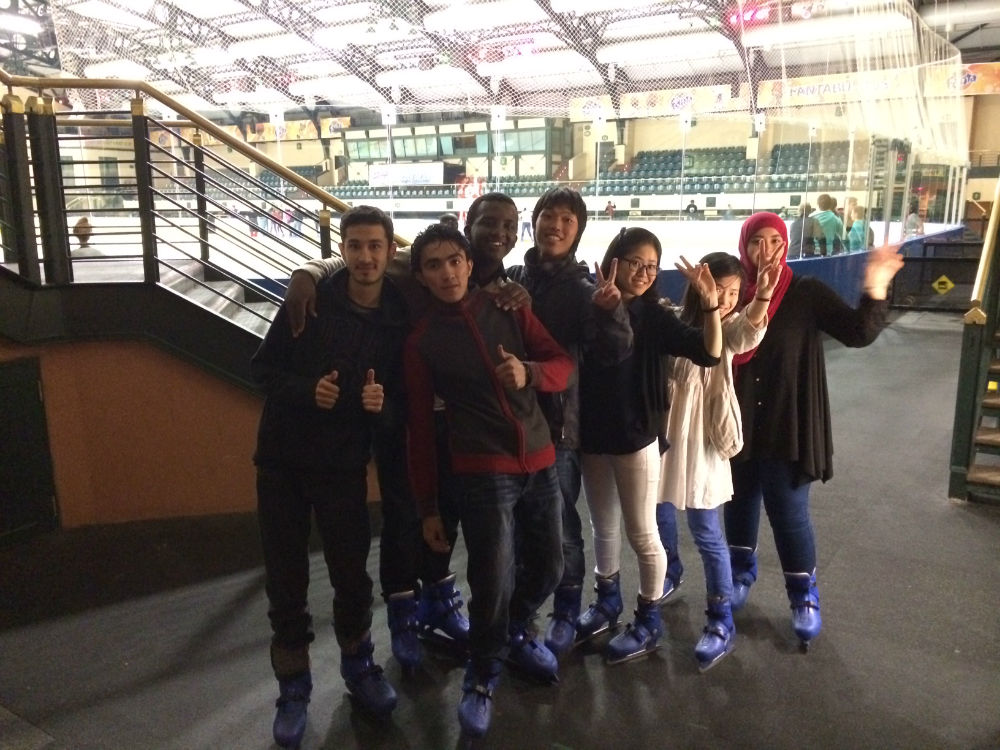 EC Cape Town students taking a short break from the ice.