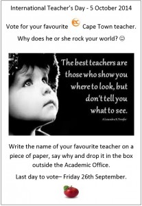 Favourite teacher poster