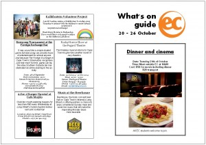 What's on guide week 42