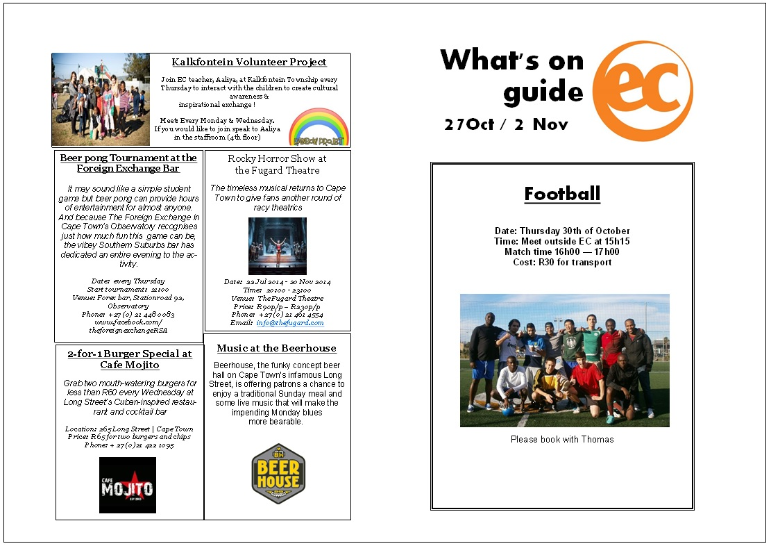 What's on guide