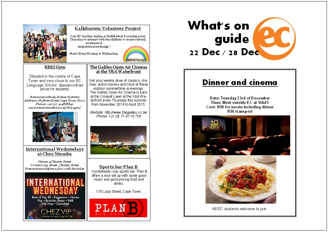 What's on Guide week 52
