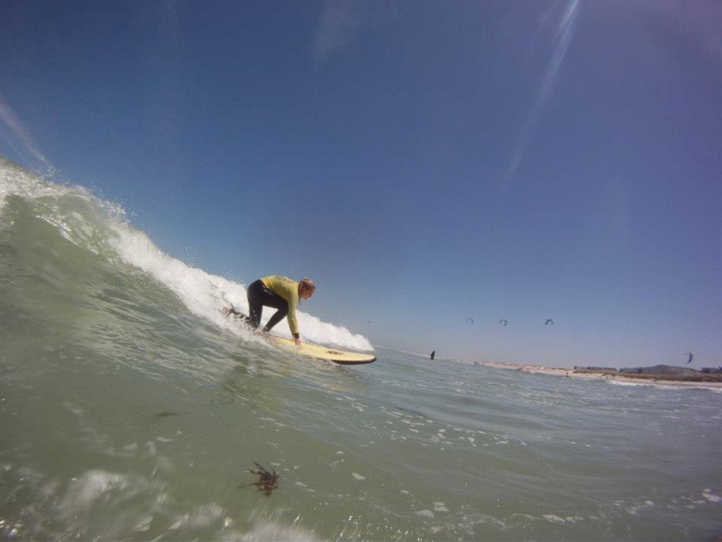 Surf lesson in Big Bay
