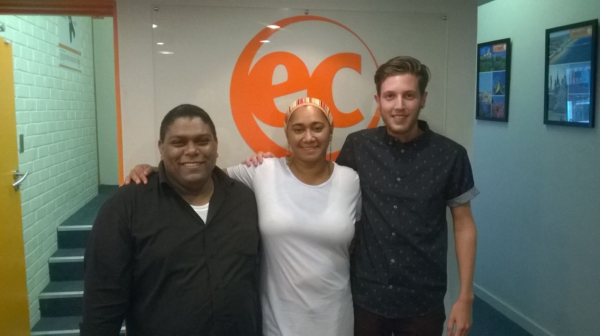 Sad goodbye to Abdul, Kaashiefa and Kevin who were learning English in Cape Town