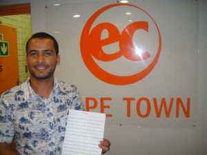 Happy student at EC Cape Town