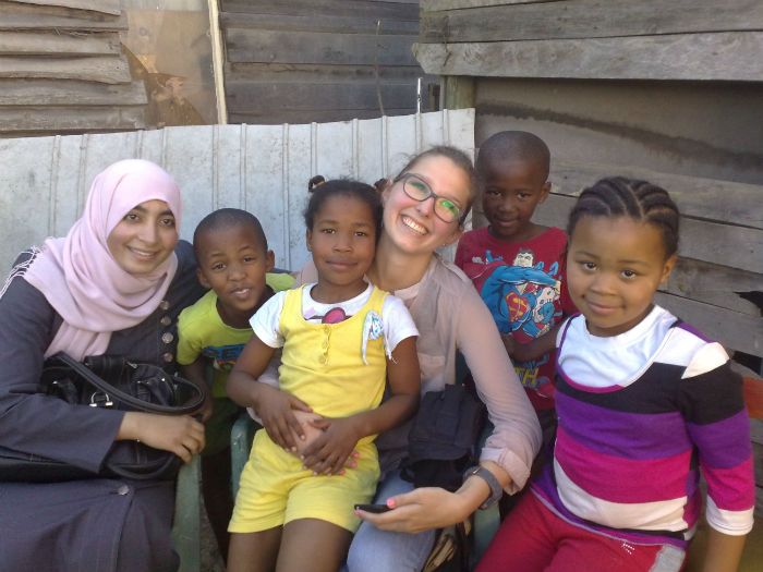 Some of the children that benefit from the volunteer programme at EC Cape Town