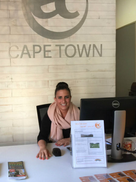 Cinzia is currently doing and internship at EC language school Cape Town. She is assisting at the front desk