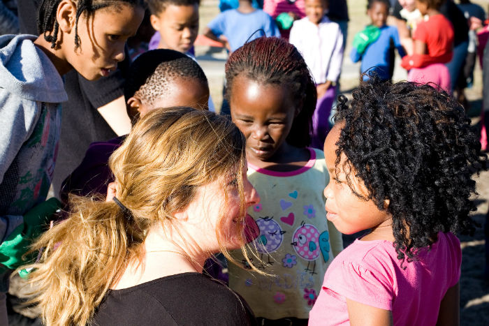 Students at EC language school volunteer their time every week to make a difference  in Kalkfontein township
