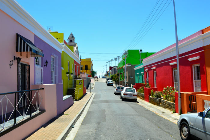A view of the famous Bokaap neighbourhood, a heritage site and Rebecca's homestay in Cape Town. Picture taken by Olivier from France.
