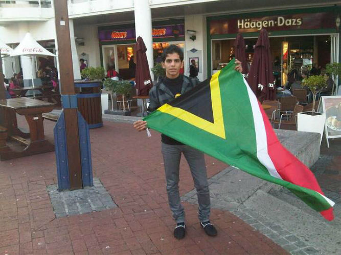 Hassan at the popular  Waterfront, which is not far from EC Cape Town English School