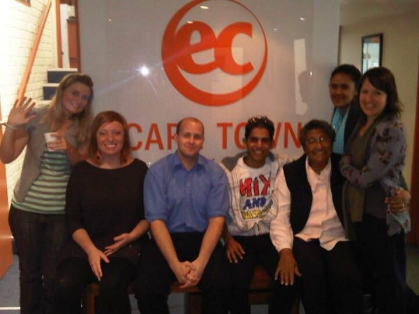 Hassan and teachers from EC language school Cape Town English School