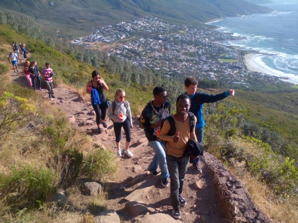 Learning English at EC Cape Town English Language School  has its benefits, like our popular hikes.