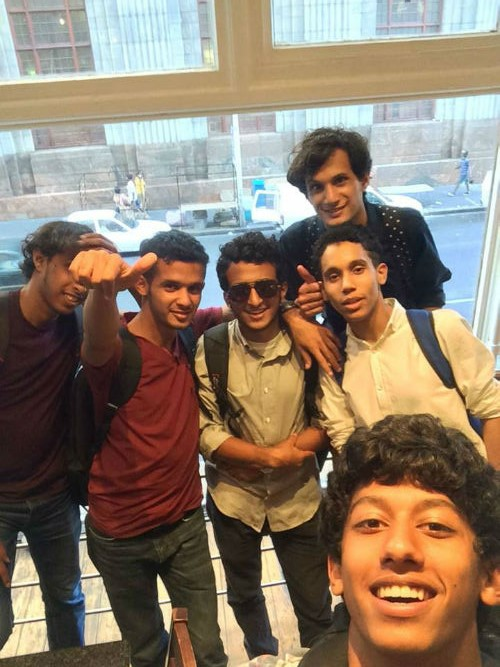 Hamza and some of his friends at EC Cape Town English Language School