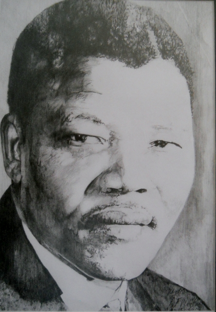 Nelson Mandela, the lawyer. Sketch by Paul Martin