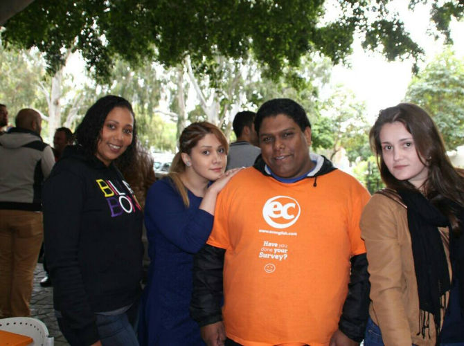 Sanaz made many friends while at EC language school.. She will be missed by many