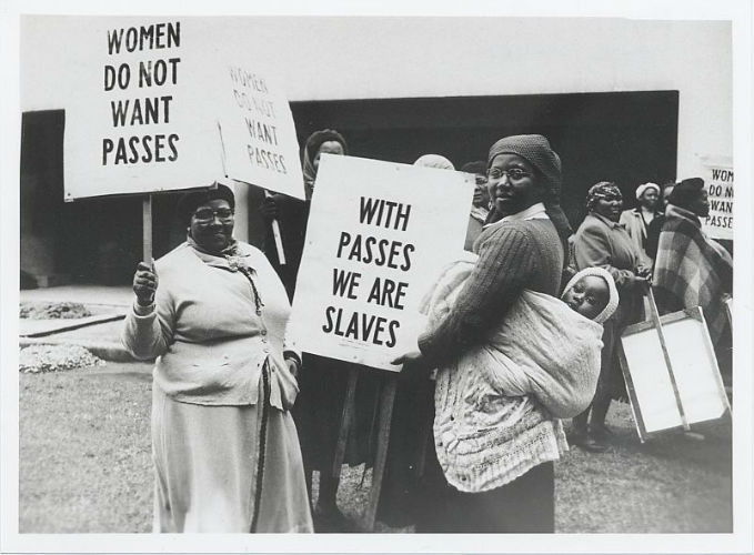 When the government wanted women to  carry these passes, they decided to join together in protest