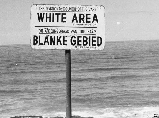 One of the signs from the Apartheid era. Beaches were divided by race