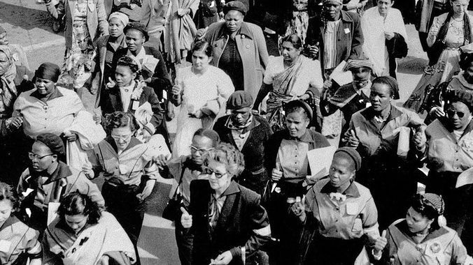 Some of the women who attended thee historic march that day