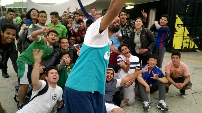 Tetsuto with the EC Cape Town  soccer 'dream team'