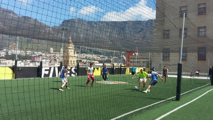 Students at EC Cape Town play soccer EVERY week by popular demand!