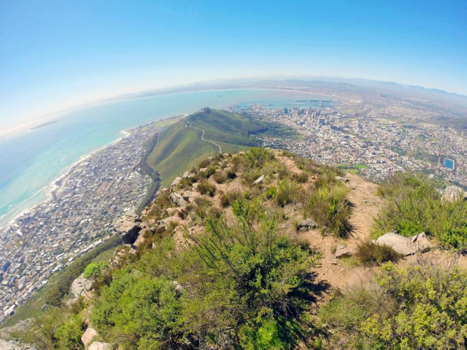 A 360 degree view of the mountain, taken on one of EC cape Town's hikes