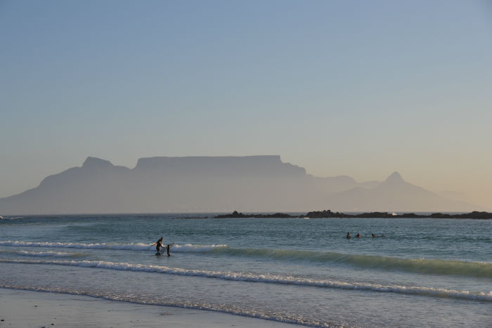 The famous Table Mountain seen from the other side of the bay. EC Cape Town is situated in this beautiful location!