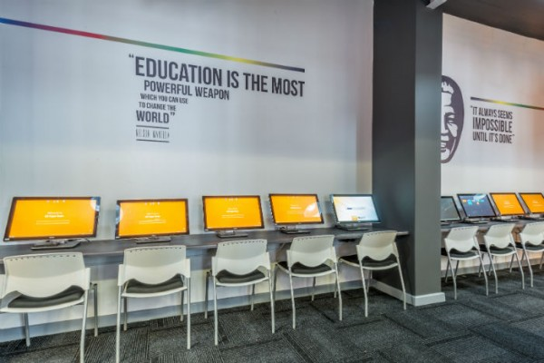 The student computer area at EC Cape Town