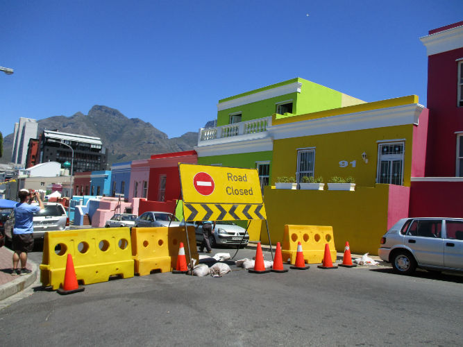 This photo was taken in the Bokaap, a popular tourist attraction and  accommodation for EC Cape Town students