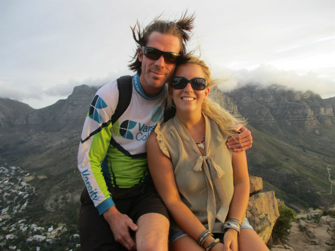 Denise with Matthew on one of the EC Cape Town hikes