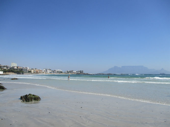 Blouberg Beach gives you a spectacular view of  the 'table' which is is Table Mountain