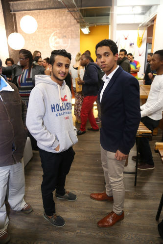 Mohamed and a friend at the EC Cape Town party, just after we moved to our new location.