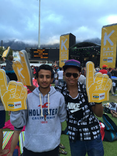 Mohamed and his 'brother' in Cape Town