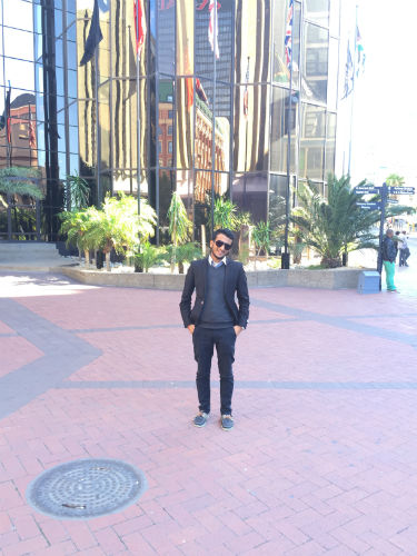 Mohamed exploring Cape Town
