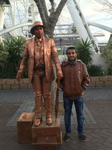 Mohamed sightseeing in Cape Town