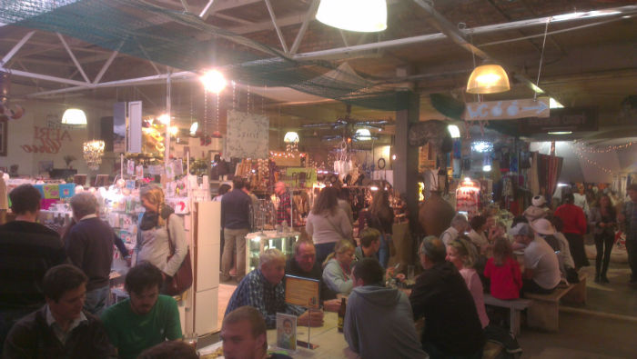 One of the many markets in Cape Town