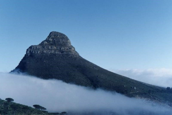 Lion's Head covered in some cloud