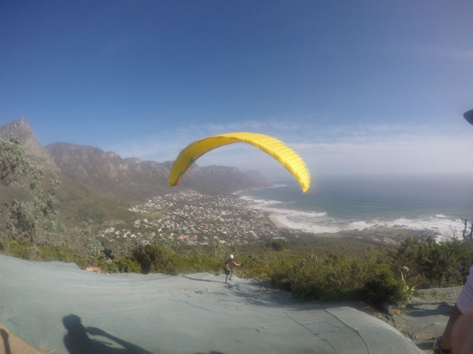 Paragliders are a regular sight. Speak to students services at EC Cape Town to find out how YOU can challenge yourself.