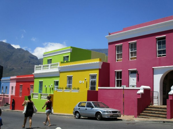 The colourful houses of the Bo-kaap is where most EC students live.