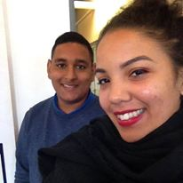 Khemil and his Jordan, who is also an intern at EC Cape Town English Language Centre and from Reunion Island!