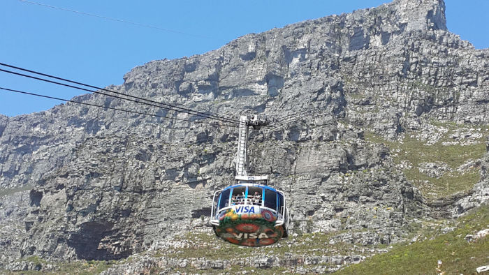 The cable car is an excellent way to see the mountain nd the city