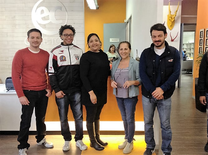 Guilherme (second from left) on his first day at EC Cape Town in September