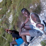 Silly hanging out at one of the many beaches which are close to EC Cape Town