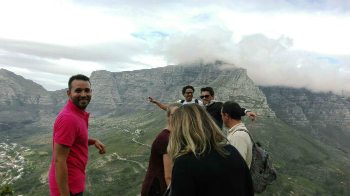 What a view! EC Cape Town students enjoying what is probably one of the best views in the world
