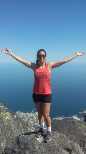 Rosa feeling on top of the world on Table Mountain