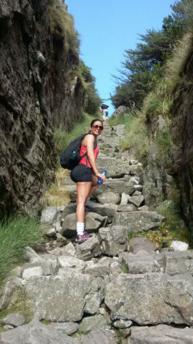 Rosiane doing one of our favourite EC Cape town  activities - hiking!