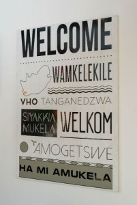 The EC Cape Town  welcome - in all 11 official langauges