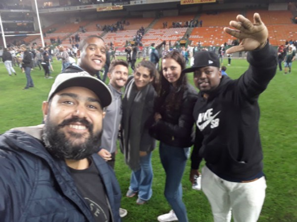EC Cape Town students on the field after the game