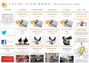social programme - January 14th
