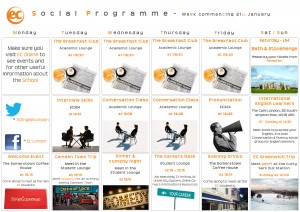 social programme - January 21st